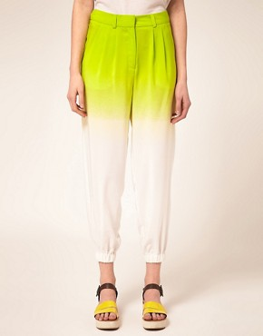 Image 4 of ASOS Ombre Pant With Elastic Cuff