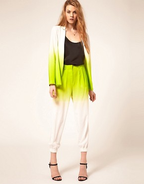 Image 1 ofASOS Ombre Trouser With Elastic Cuff