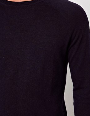 Image 3 of ASOS Raglan Crew Jumper With Elbow Patches
