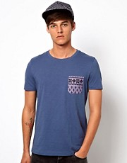 ASOS T-Shirt With Printed Woven Pocket