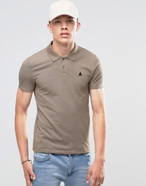 ASOS Muscle Pique Polo Shirt With Embroidery In Brown
