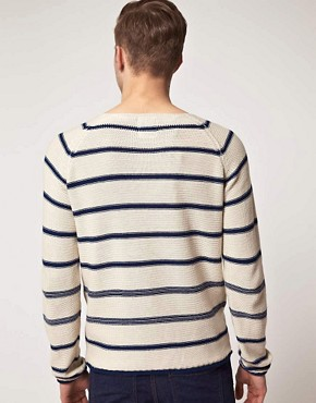 Image 2 ofSelected Dover Stripe Crew Neck Knit