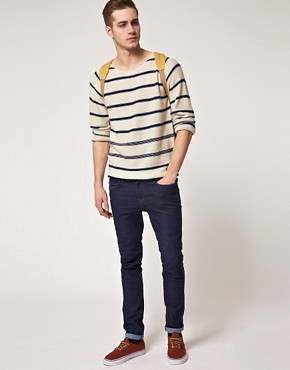 Image 4 ofSelected Dover Stripe Crew Neck Knit