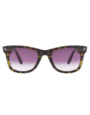 Image 2 ofASOS Green Tort Wayfarer Sunglasses