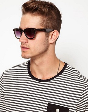 Image 3 ofASOS Green Tort Wayfarer Sunglasses