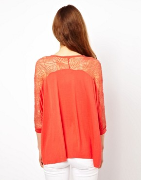 Image 2 ofMina Drape Top With Lace Back