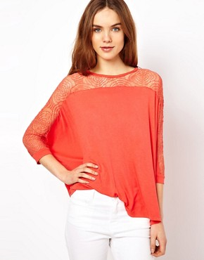 Image 1 ofMina Drape Top With Lace Back