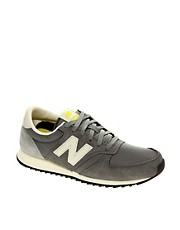 New Balance 420 Grey Suede Trainers