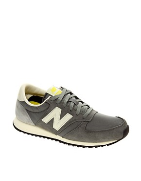Image 1 ofNew Balance 420 Grey Suede Trainers
