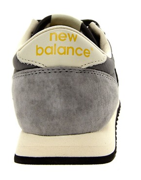 Image 2 ofNew Balance 420 Grey Suede Trainers