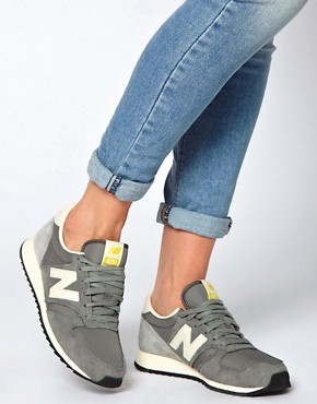 Image 3 ofNew Balance 420 Grey Suede Trainers