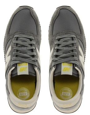 Image 4 ofNew Balance 420 Grey Suede Trainers