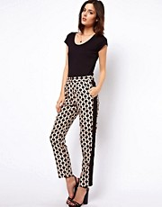 ASOS Pants In Geo Tile Print And Blocking
