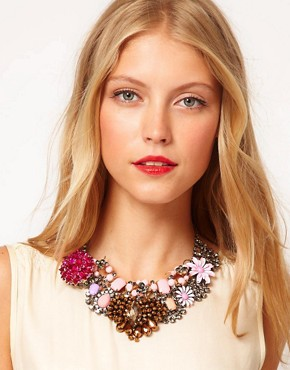 Image 3 ofASOS Premium Jewelled Flower Collar Necklace