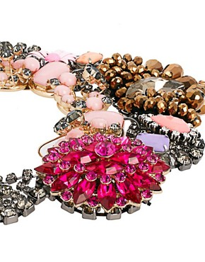 Image 4 ofASOS Premium Jewelled Flower Collar Necklace