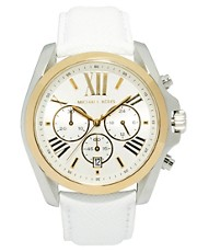 Michael Kors Bradshaw Chronograph White Strap Watch