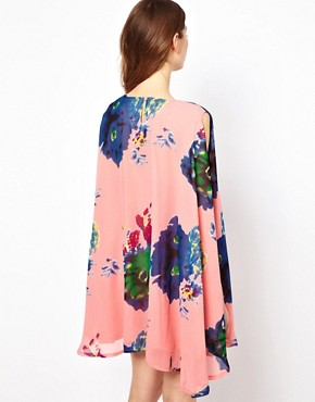 Image 2 ofJovonnista Swing Dress In Floral Print
