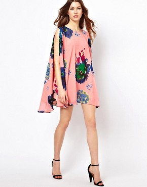Image 4 ofJovonnista Swing Dress In Floral Print