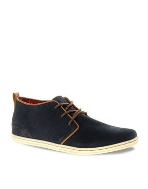 Image 1 ofRiver Island Suede Piped Desert Boots