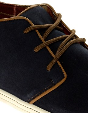 Image 2 ofRiver Island Suede Piped Desert Boots