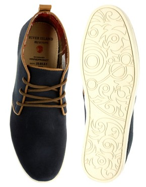 Image 3 ofRiver Island Suede Piped Desert Boots