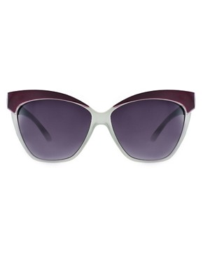 Image 2 of ASOS Cat Eye Sunglasses with Contrast Highbrow