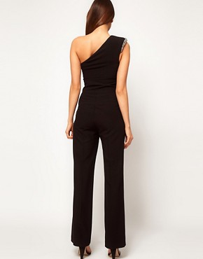 Image 2 ofASOS Jumpsuit With Embellished Shoulder
