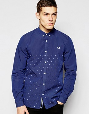 Fred Perry Shirt with Half Dobby Dot