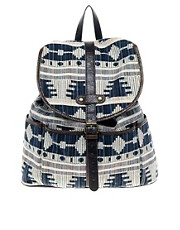 ASOS Backpack with Aztec Design