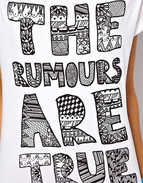 Image 3 ofASOS T-Shirt with The Rumours are True