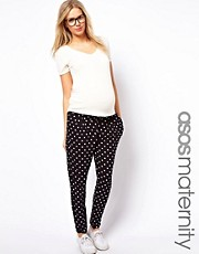 ASOS Maternity Peg Trouser In Spot