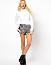 Vivienne Westwood Anglomania For Lee Pin-Up Shorts In Steel