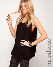 ASOS PETITE Vest With Extreme Drop Armhole
