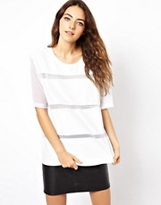 ASOS T-Shirt with PU Stripe