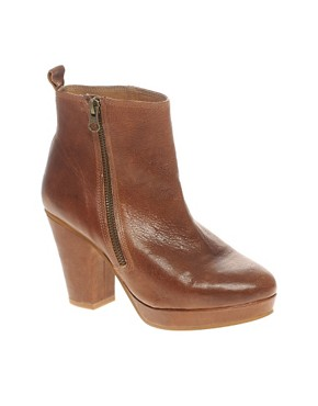 Image 1 ofASOS ALFREDO Platform Boots with Zip
