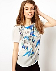 A Wear Oversize T-Shirt With Leaf Print