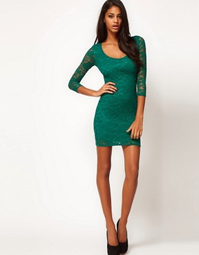 Image 4 ofASOS Bodycon Dress in Lace
