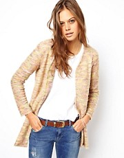 ASOS Cardigan in Fluffy Texture with Ombre
