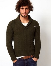 G Star Jumper New Borre Shawl Collar Cable