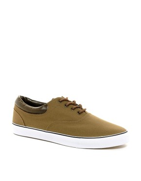 Image 1 ofASOS Plimsolls With Cuff