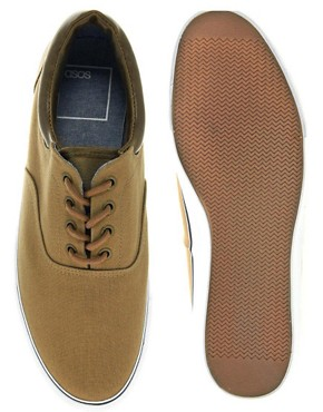 Image 2 ofASOS Plimsolls With Cuff