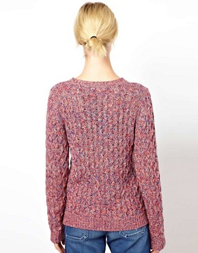 Image 2 ofBoutique by Jaeger Spacedye Waffle Knit in Cotton