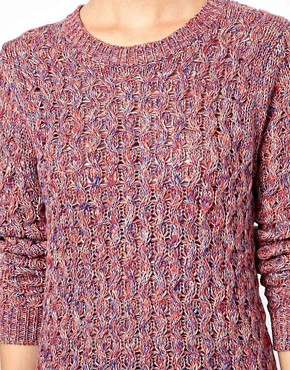 Image 3 ofBoutique by Jaeger Spacedye Waffle Knit in Cotton
