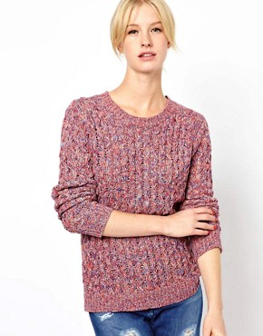 Image 1 ofBoutique by Jaeger Spacedye Waffle Knit in Cotton