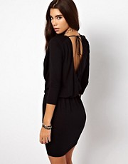 By Zoe Draped Jersey Dress with Open Back