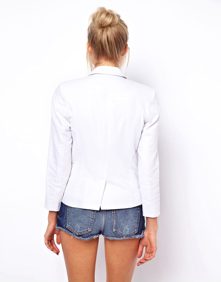 Image 2 of ASOS Linen Tailored Blazer
