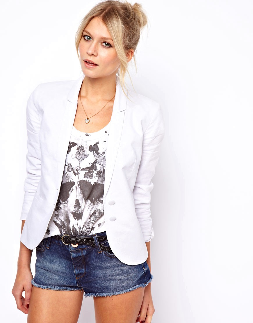 Image 1 of ASOS Linen Tailored Blazer