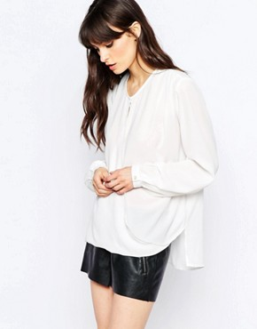 d.RA Jivan Faux Wrap Front Top