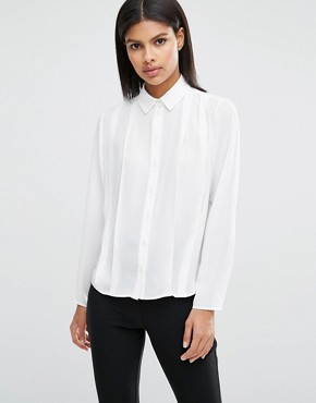 ASOS Pleat Front Blouse