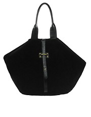 ASOS Leather Folded Hobo Bag With Front Strap